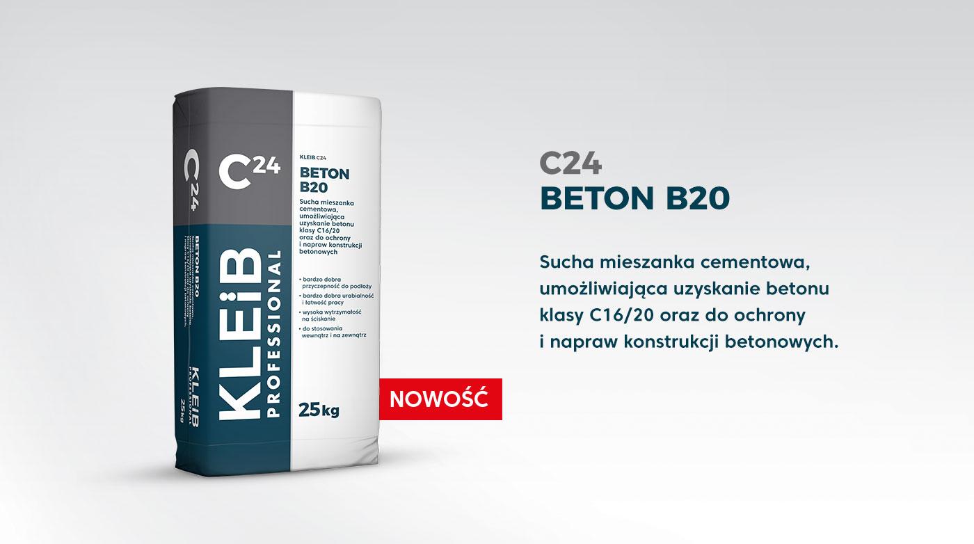 Beton B20 – beton klasy C16/20