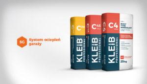 chemia budowlana dolnośląskie KLEIB, ocieplanie garażu, tynk mineralny KLEIB, klej do styropianu,